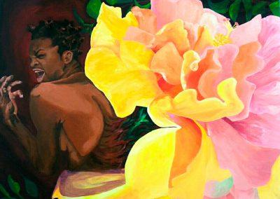 Esther Calixte Bea,«Il faut souffrir pour être belle», Acrylique, VA2016 CJE St-Hubert