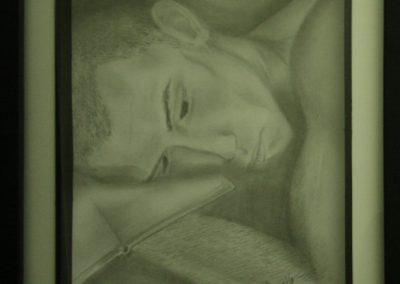 Félix-Olivier Agostino, «À bout», dessin au plomb, VA2016, CJE Vallée du Richelieu