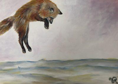 Sarah Roussier, «La chasse», acrylique, VA2017, CJEMY