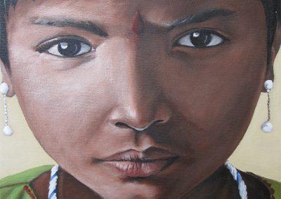 Maud Gailloux, «Abiruchi», peinture acrylique VA2016, CJE Canton de l'Est