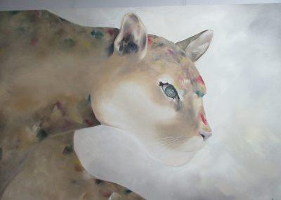 Valérie Vincent «Cougar» acrylique, VA2016, CJEMY