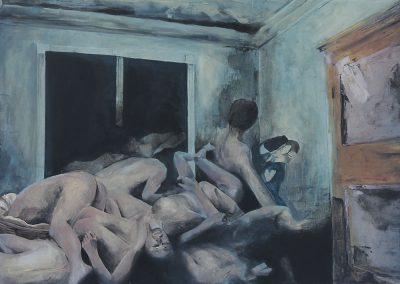 Chloé Larivière, «Baiser dans la Tragédie», acrylique, VA2017, CJEMY