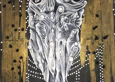 Vatany Martel, «Culte d'Orobas», huile et acrylique, VA2018, CJEBeauharnois_Salaberry