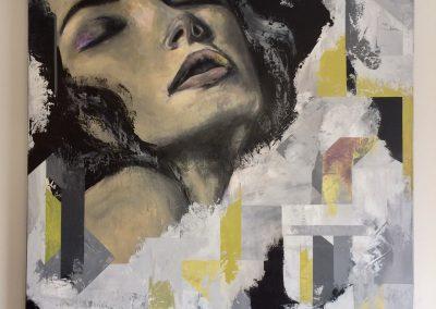 Claude Dicaire-Lavigne, «Fraction», acrylique, VA2018, CJEVS