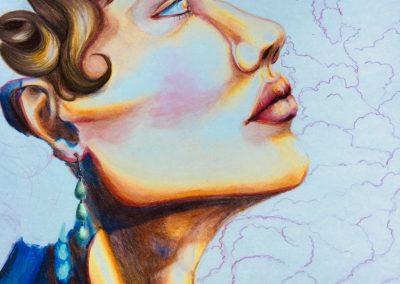 Maya Doran, «Hespherus», prismacolor, VA2018, CJEVS