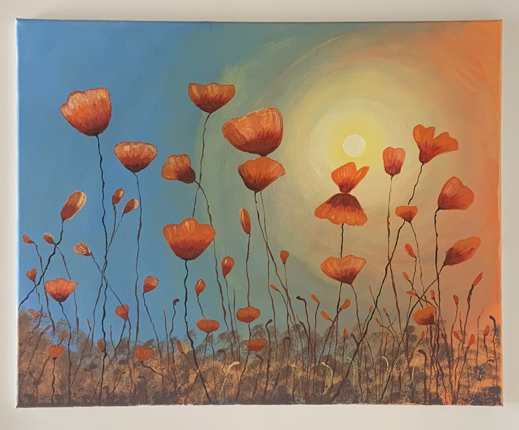 Les coquelicots rouges Art by Shaf